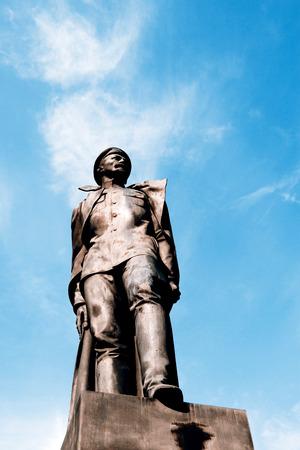 felix: Statue of Felix Dzierzinski - St.Petersburg, Russia Editorial