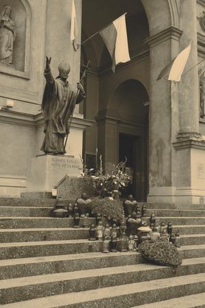 pope: statue of Pope John Paul II Stock Photo