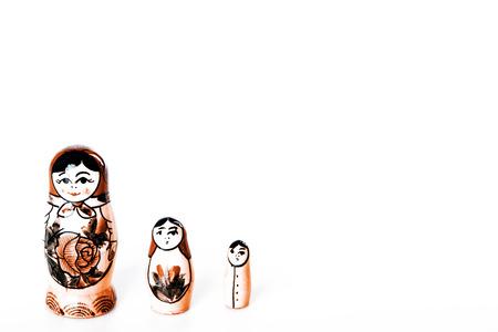 russian dolls: Beautiful Russian Dolls Matryoshka Isolated on a white background