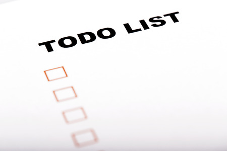 todo: To Do list with check marks isolated on white