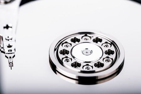 diskdrive: Inside Hard disk drive HDD isolated on white background