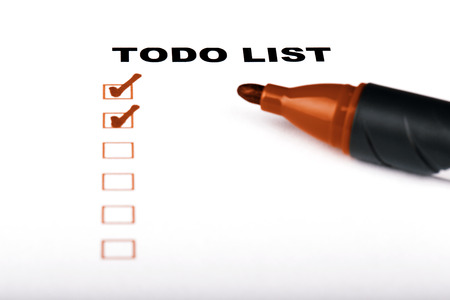 todo list: To Do list with check marks isolated on white