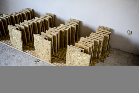 joists: support panel from oriented strand board - diy holder for insulation