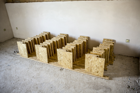 oriented: support panel from oriented strand board - diy holder for insulation