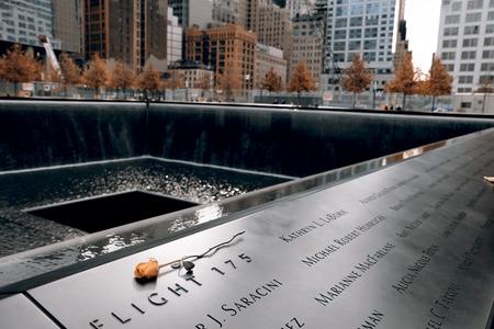 Memorial of 9-11-2001, New York Фото со стока