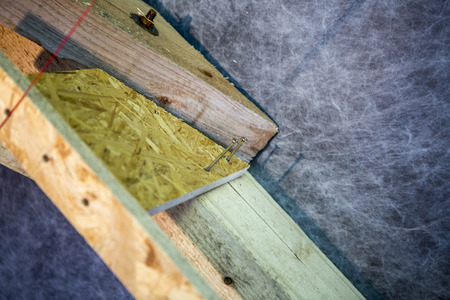 support panel from oriented strand board - diy holder for insulation