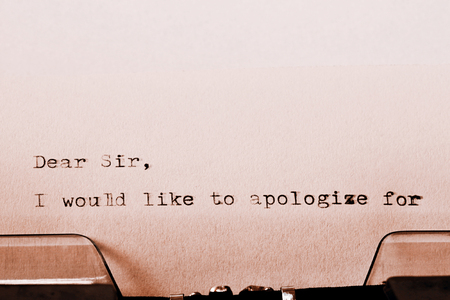 dear: Letter with a title Dear Sir typed on old typewriter Stock Photo