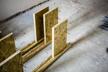 strand: support panel from oriented strand board - diy holder for insulation