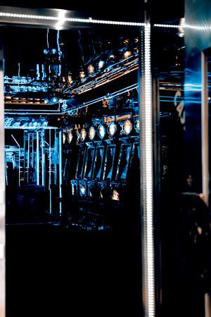 machines: slot machines inside casino - Prague Stock Photo