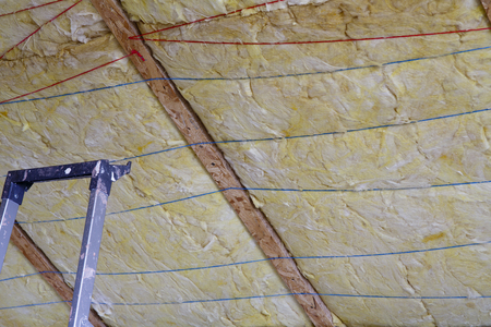 glasswool: Mineral wool THERMAL INSULATION - house thermal protection