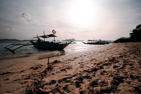 nido: Beautiful sunset, El Nido, Palawan Stock Photo