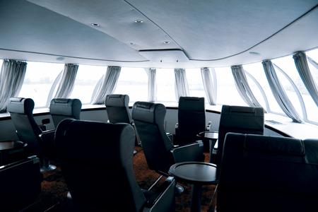 peterhof: inside hydrofoil boat from St.Petersburg to Peterhof