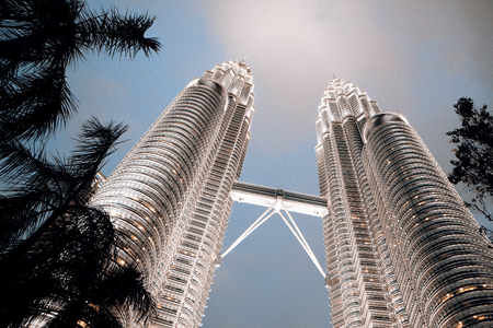 Kuala Lumpur Twin towers at night