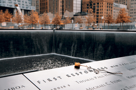Memorial of 9-11-2001, New York Stock Photo