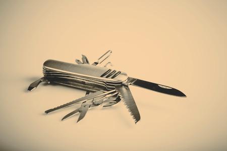 metallic swiss knife army keychain