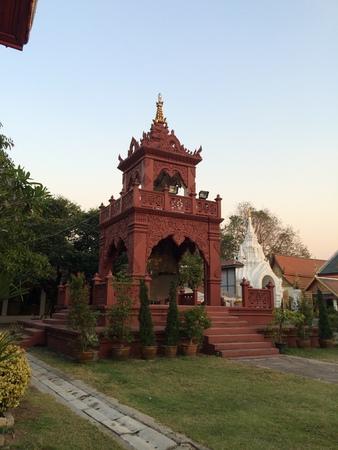 sa: Hor Kang Sa Dal, Wat Pra Tad Hariphunchai, Lamphun, Thailand Stock Photo