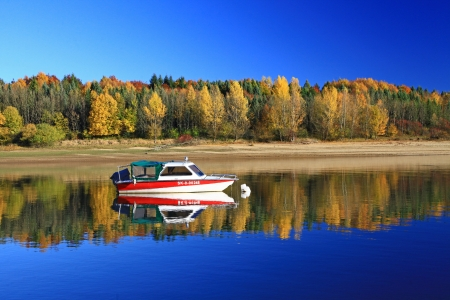 fairyland: Water basin Liptovska Mara, SLovakia