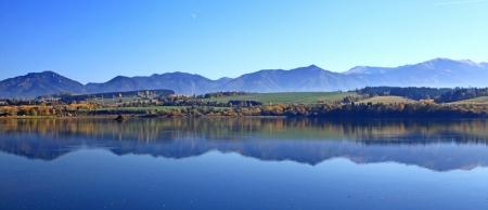 liptov: Liptovska Mara - water basin in region Liptov, Slovakia  Stock Photo