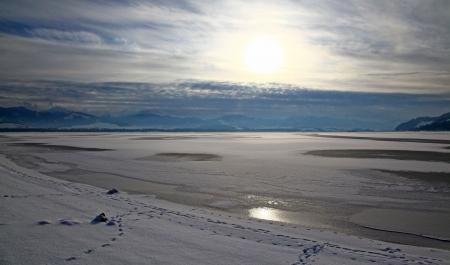 Winter country - Lipotvska Mara, water basin - Slovakia Stock Photo - 17829163