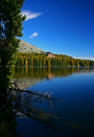 Strbske pleso - tarn in High Tatras mountains, Slovakia  Stock Photo - 17829211