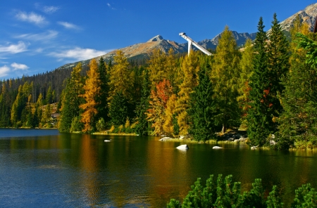 Strbske pleso - tarn in High Tatras mountains, Slovakia  photo