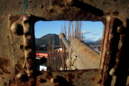 ruzomberok: Ca��n de la Segunda Guerra Mundial en la ciudad de Ruzomberok, Eslovaquia