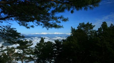 mnich: View from hill Mnich near town Ruzomberok, Slovakia