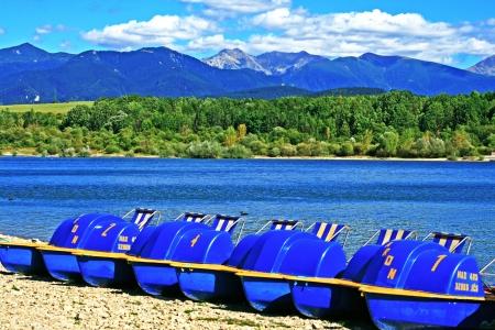 Liptovska Mara - water basin in region Liptov, Slovakia  photo