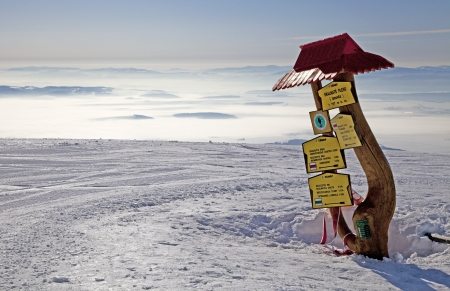 View from Skalnate pleso - tarn in High Tatras, Slovakia
