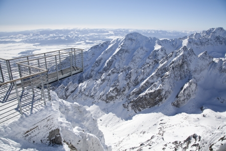 View from Lomnicky stit - peak in High Tatras, Slovakia photo