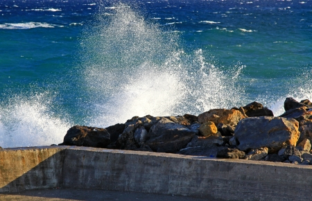 influx: Stormy sea at Crete, Greece