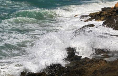 Stormy sea at Crete, Greece