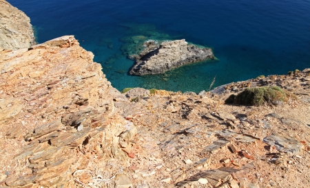 Shallow clear sea of Crete, Crete - Greece Stock Photo