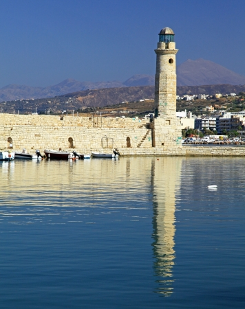 rethymno: City Rethymno at Crete, Greece Stock Photo