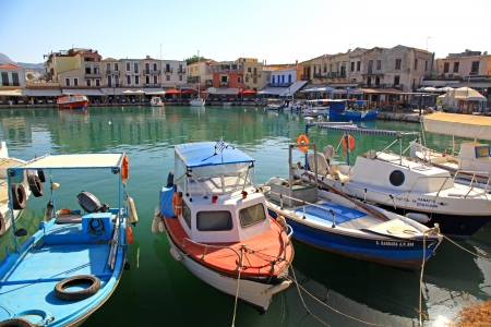 RETHYMNO, GREECE - SEPTEMBER 11: Old port at city Rethymno on September 11, 2013 in Rethymno