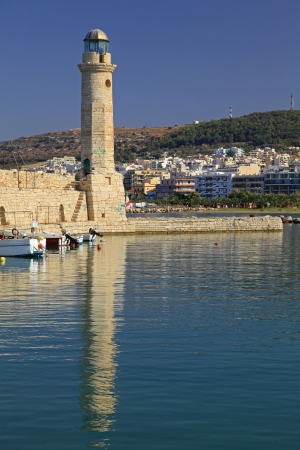 rethymno: RETHYMNO, GREECE - SEPTEMBER 11: Old port at city Rethymno on September 11, 2013 in Rethymno
