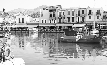 RETHYMNO, GREECE - SEPTEMBER 11: Old port at city Rethymno on September 11, 2013 in Rethymno