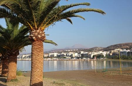 rethymno: Beaches at city Rethymno