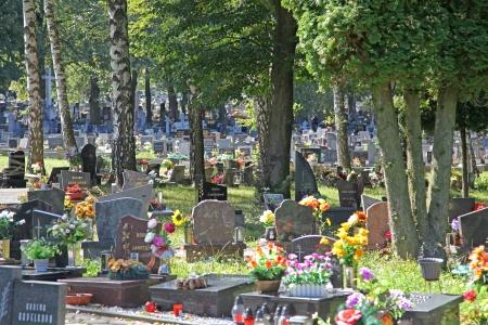 ruzomberok: RUZOMBEROK, Eslovaquia - 04 de septiembre: Cementerio en la ciudad Ruzomberok el 4 de septiembre de 2013 en Ruzomberok