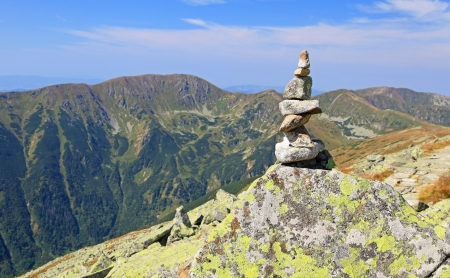 View from Derese - Low Tatras mountains, Slovakia  Stock Photo