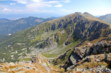 View from Derese - Low Tatras mountains, Slovakia  Stock Photo