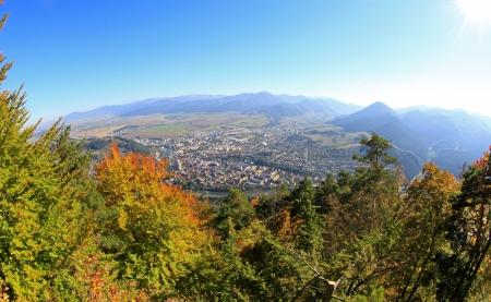 ruzomberok: Town Ruzomberok from hill Cebrat, Slovakia