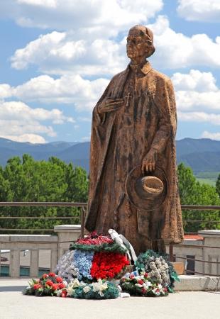 ruzomberok: Estatua de Andrej Hlinka en la ciudad de Ruzomberok - Eslovaquia