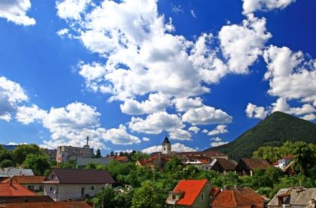 ruzomberok: Small town Ruzomberok in Slovakia Stock Photo