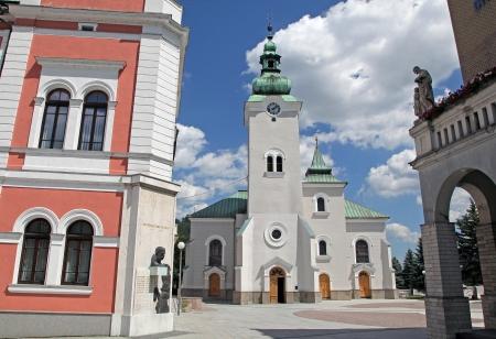 ruzomberok: Cat�lica romana en la ciudad de Ruzomberok - Eslovaquia Foto de archivo