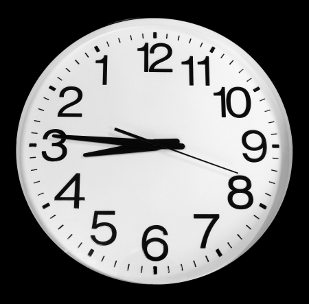 inverted: Black   white inverted clock Stock Photo