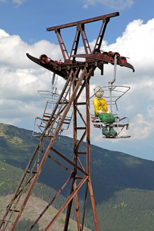 transportaion: Old ropeway in Low Tatras mountains, Slovakia