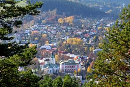 mnich: Town Ruzomberok from hill Mnich