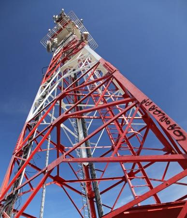 mnich: Telecommunication transmitter on hill Mnich near town Ruzomberok, SLovakia