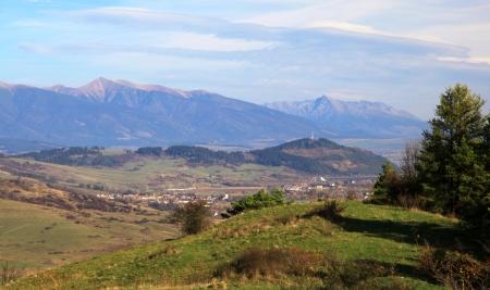 ruzomberok: High Tatras from hill Mnich near town Ruzomberok, Slovakia